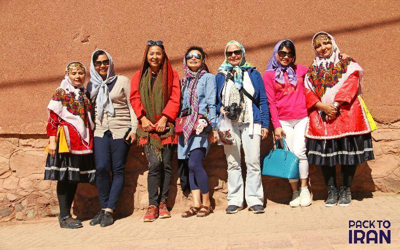 Female travelers in Iran