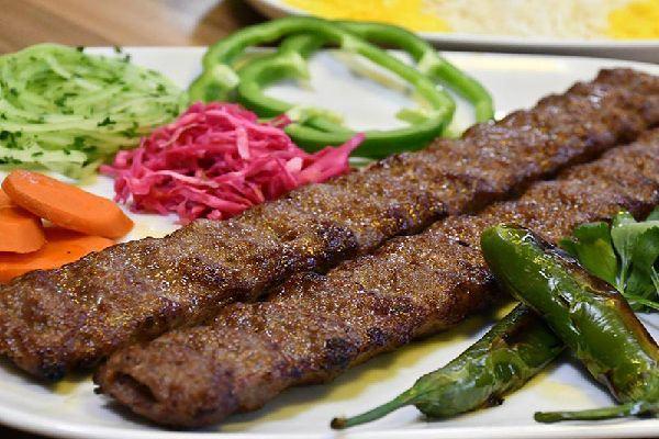 Iranian Kebab Koobideh with pickles
