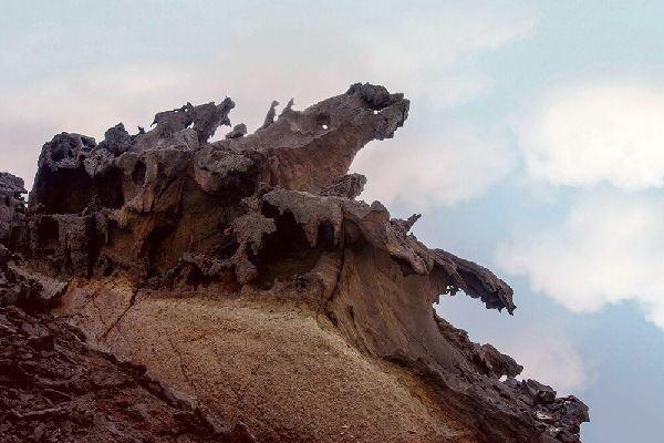 Rocks in Valley of Statues in Hormuz Island