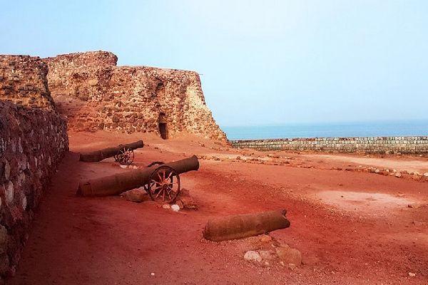 The Portoguese Castle by the sea, in Hormuz Island