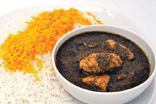 Ghaliye Mahi (fish stew) and rice