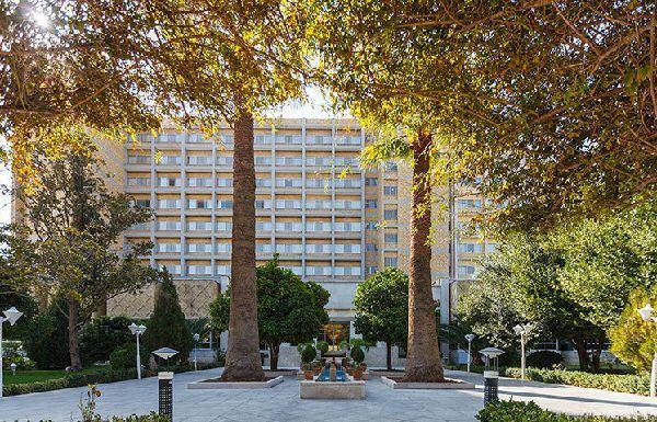 the courtyard of 5 star Homa Hotel in Shiraz