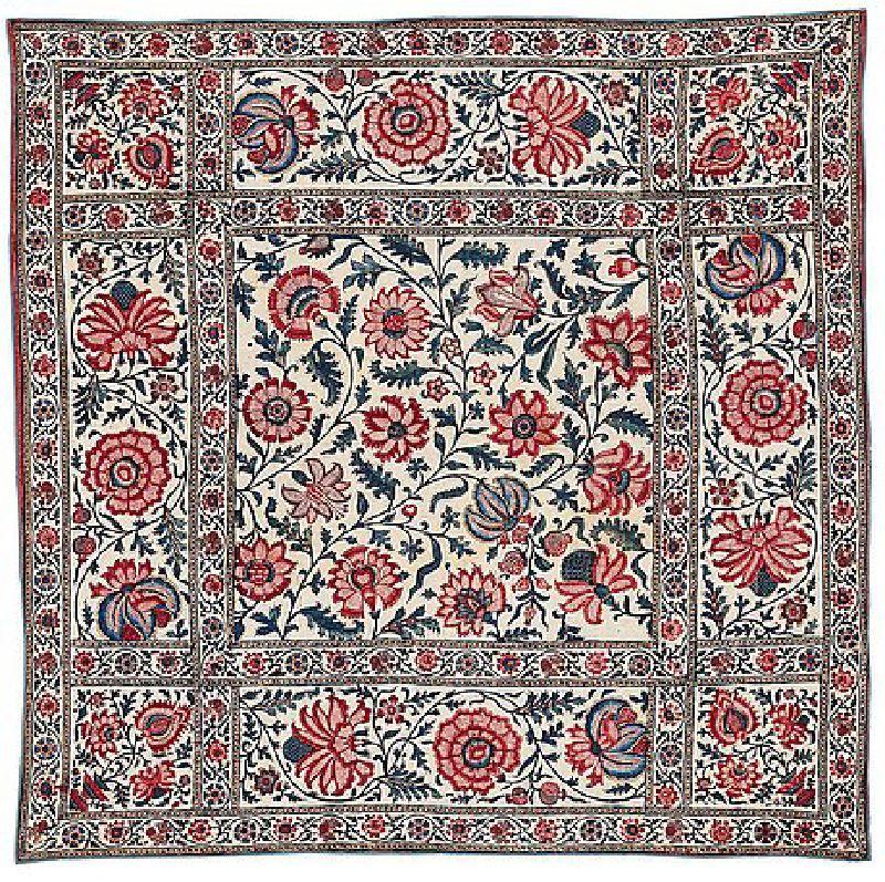 Antique Ghalamkar Textile  - Isfahan , Iran