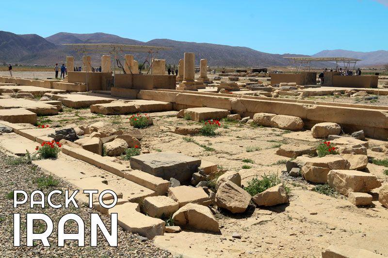 The ruins of ancient Pasargadae Garden - Fars