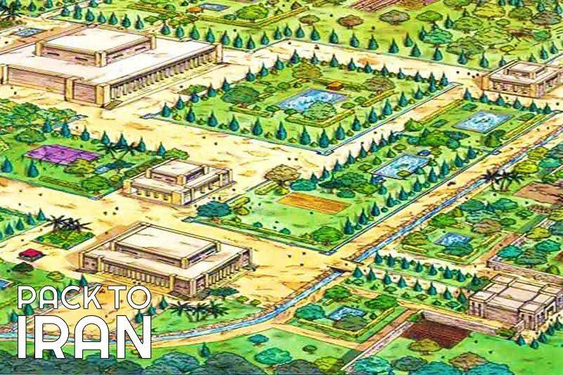 The ancient Pasargadae Garden - Fars