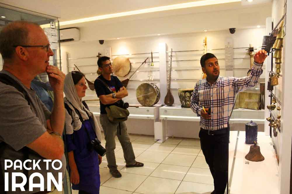 Travelers visiting Isfahan Music Museum
