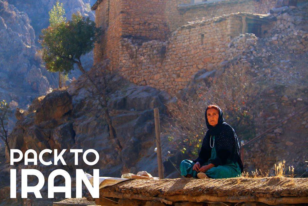 A local woman in Uraman Takht Village - Kurdistan, Iran