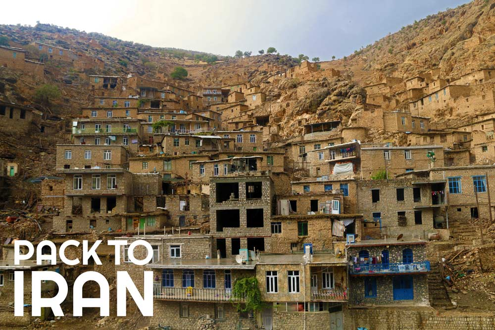 The stepped architecture of Uraman Takht Village