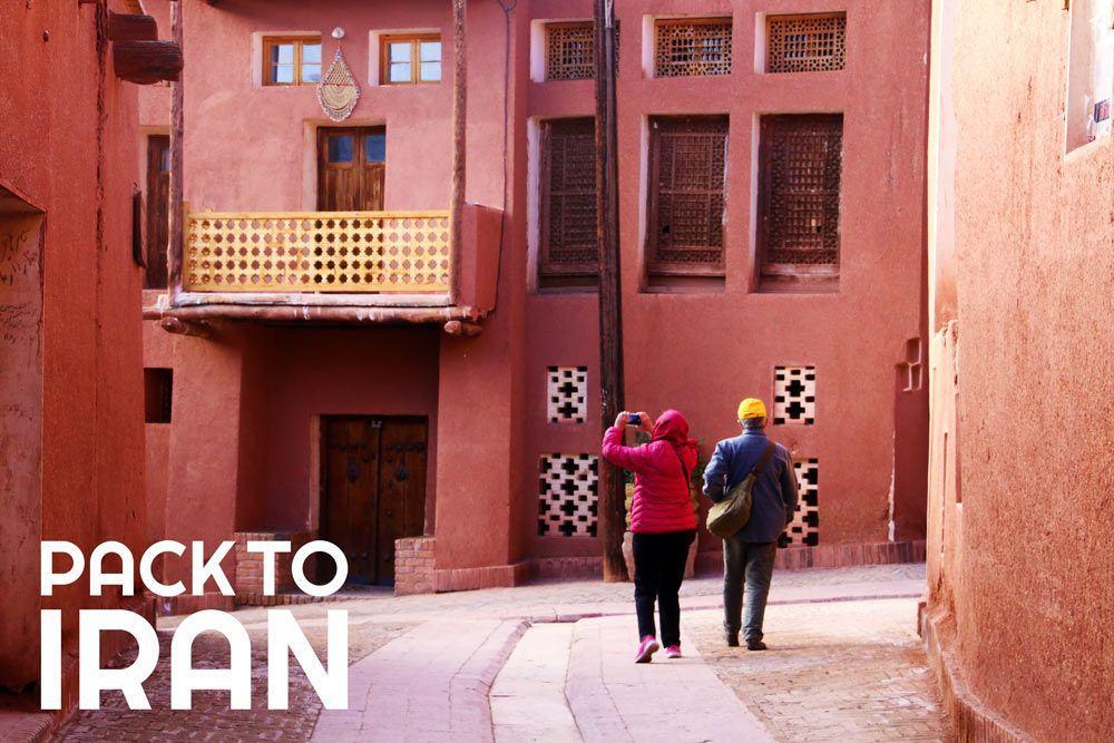 travelers visiting Abyaneh Village