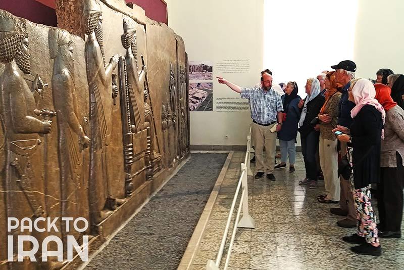 Travelers visiting National Museum of Iran, Tehran