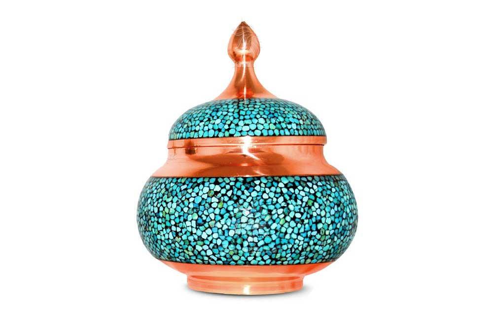 Firoozeh Koobi, turquoise inlaying art - Iran