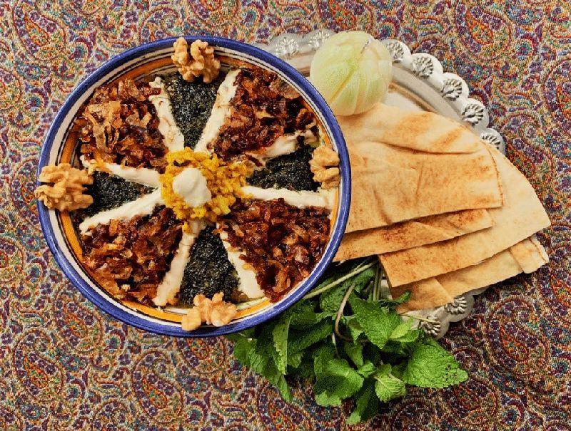 kashk o Bademjan - Persian vegetarian food
