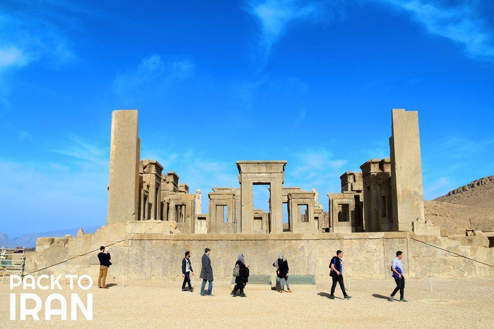 Travelers visiting Persepolis - Iran