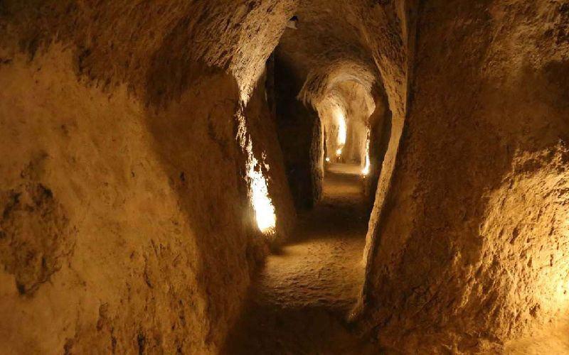 The underground city of Nushabad - Kashan, Iran