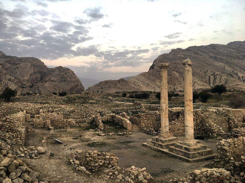 The Memorial columns of Bishapour - fars, Iran