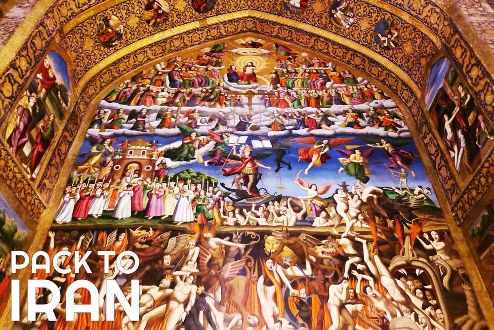 Paintings in Vank cathedral - Isfahan, Iran