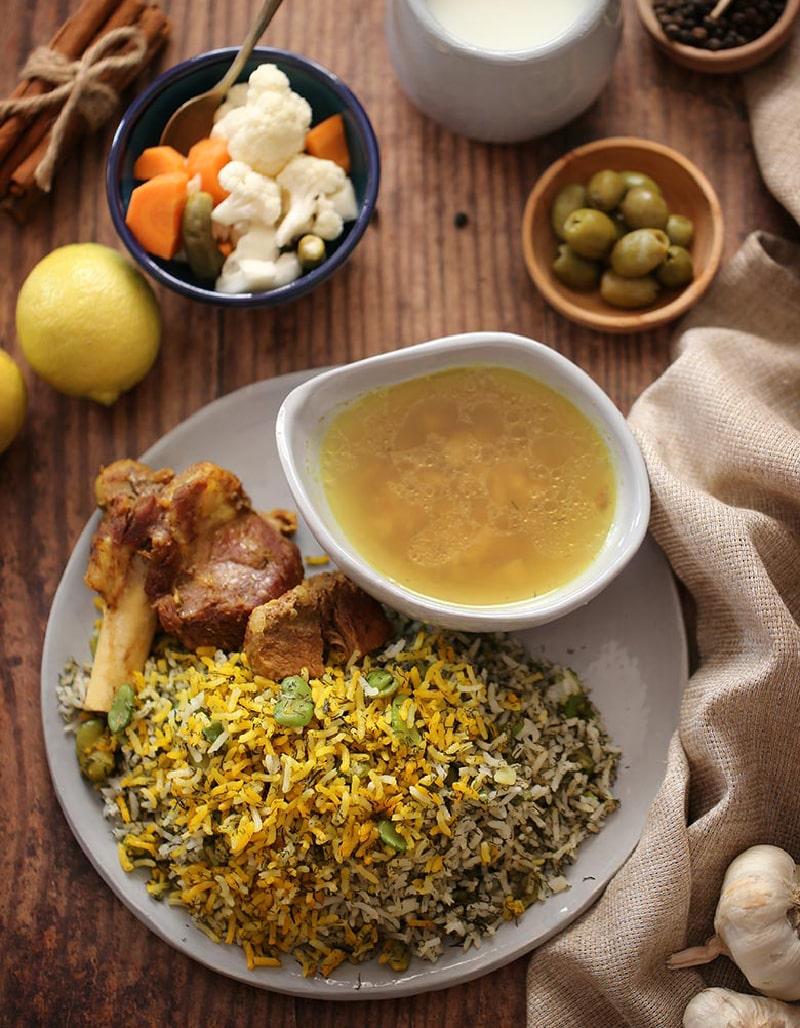 Baghali Polo - Persian foods to try in Iran