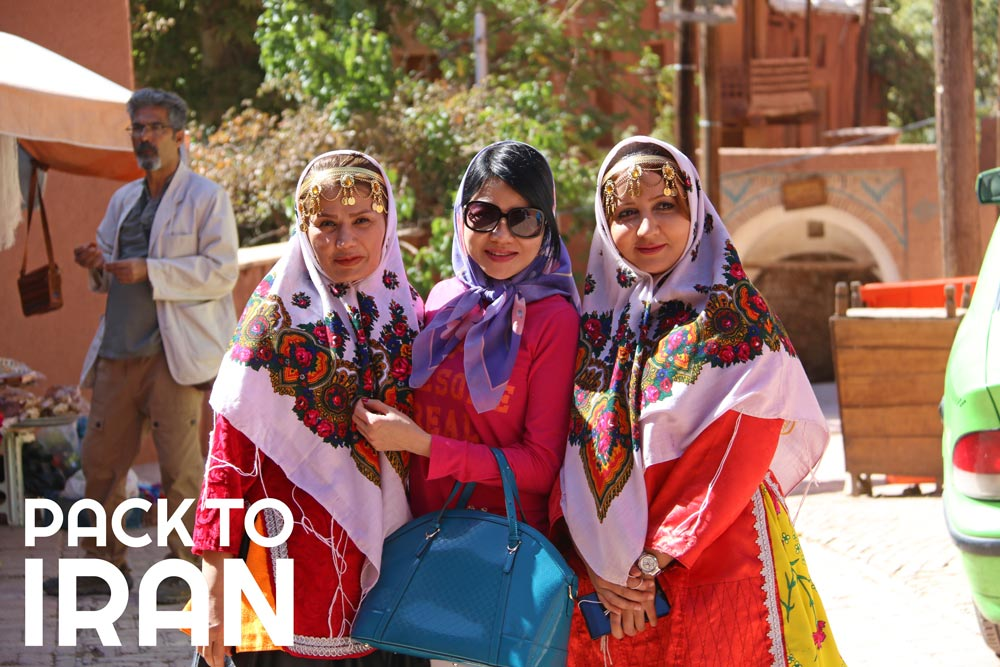 Solo female travelers in Iran - Abyaneh Village