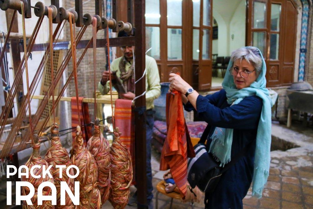 Solo female travelers in Iran - Bazaar of Kashan