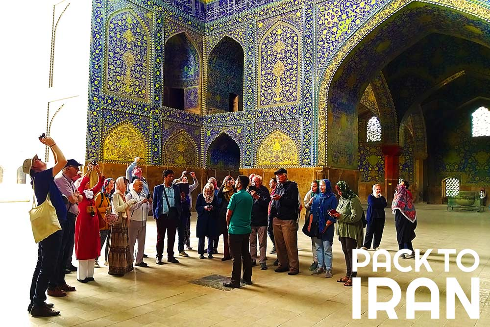 Travelers visiting Jaame Imam Mosque - Isfahan, Iran
