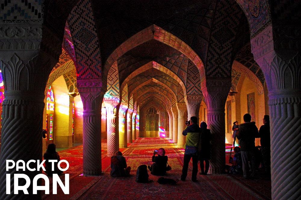 Travelers visiting Nasir al Molk Mosque - Shiraz, Iran
