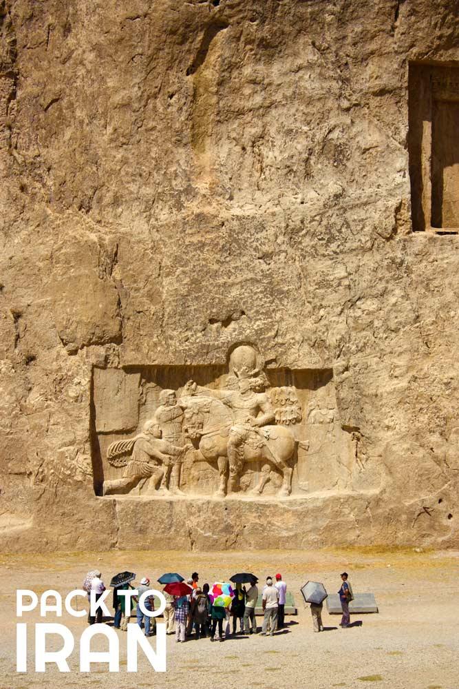 Travelers visiting Naqsh-e Rostam - Shiraz, Iran