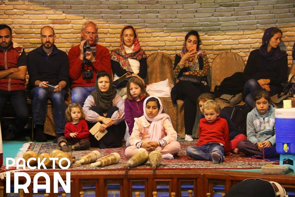 Travelers visiting Pahlevani and Zoorkhaneh Ritual - Iran