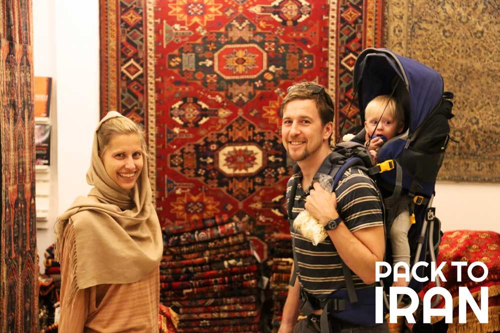 Travelers visiting Iran
