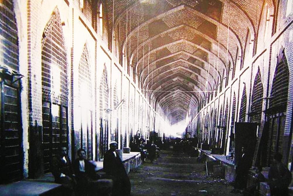 Old photo of Vakil Bazaar - Shiraz, Iran