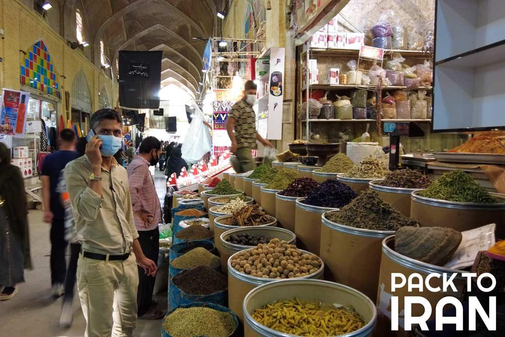 Spice shop at Vakil Bazaar - Shiraz, Iran