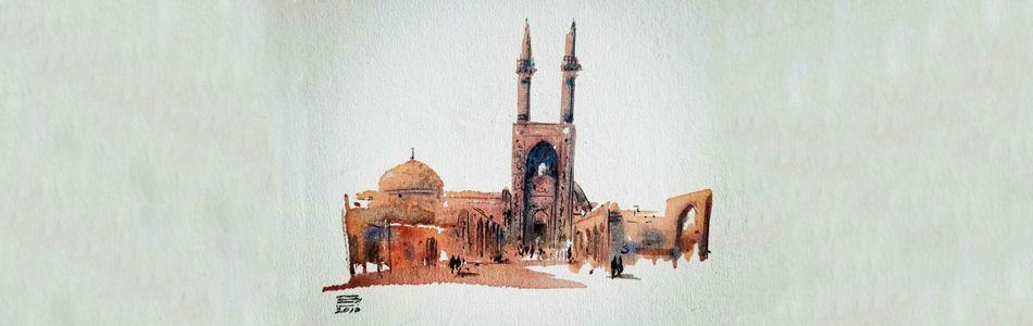 Painting in Yazd