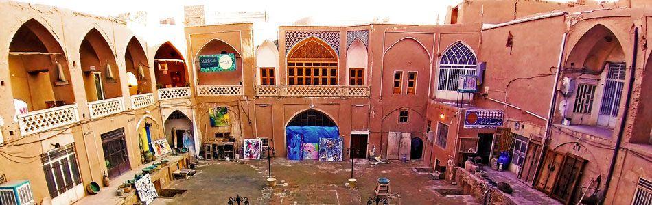 Kashan city tour - Sketching in bazaar