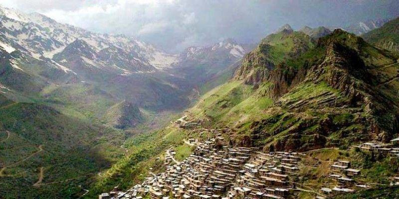 Uraman Takht Village in Kurdistan, Iran