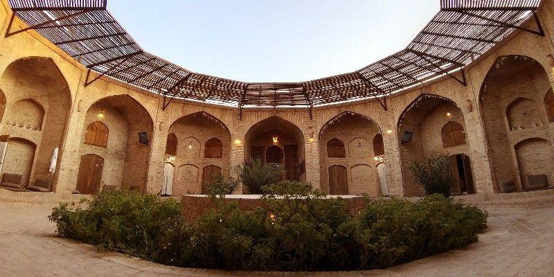 The historical Zein-o-Din Caravanserai - Yazd